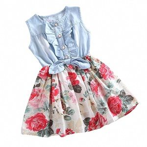 Other - Denim and Floral Dress
